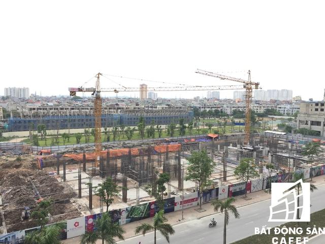 Trước mặt dự án là Khu chung cư the K-Park đang được triển khai.