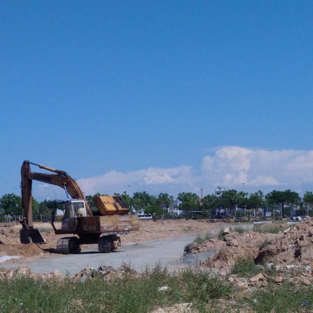 Chủ đầu tư vẫn tiếp tục cho thi công trên phần đất dự án