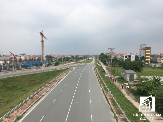 Dự án nằm ngay gần quốc lộ 5 mới nối Khu công nghiệp Thăng Long – Nội Bài.