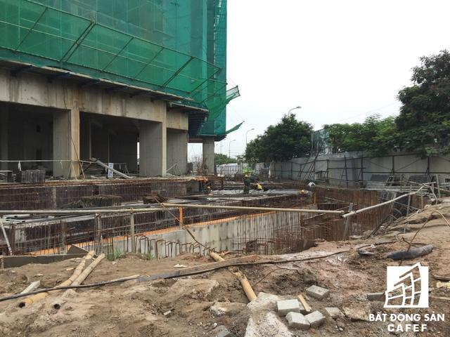 Các hạng mục khác tại dự án đang trong quá trình triển khai hầm và móng.