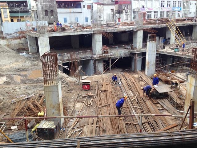 Hiện tại dự án đã bắt đầu xây dựng phần thân.