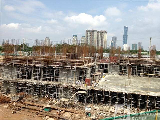 Tính đến thời điểm hiện tại, công trình Mỹ Đình Peal vẫn xây đúng tiến độ.