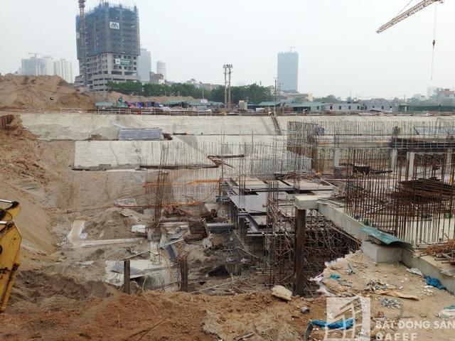 Công trình đang trong giai đoạn xây dựng phần hầm.