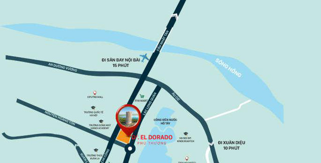 Vị trí khu đất xây dựng dự án D'. El Dorado