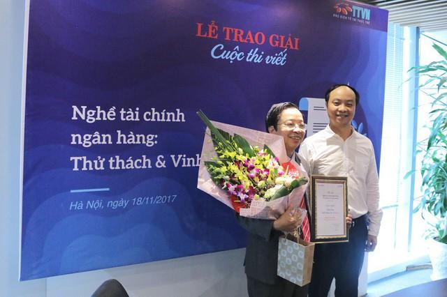 Tác giả Phạm Xuân Hòe - giải nhất cuộc thi viết Nghề Tài chính Ngân hàng: Thử thách và Vinh quang