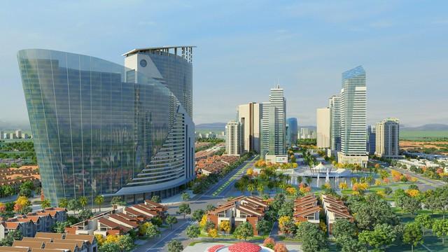 Nhiều dự án khu đô thị mới mọc lên ở huyện Hoài Đức, đang từng bước hình thành. (Ảnh: Phối cảnh khu đô thị Kim Chung Di Trạch).
