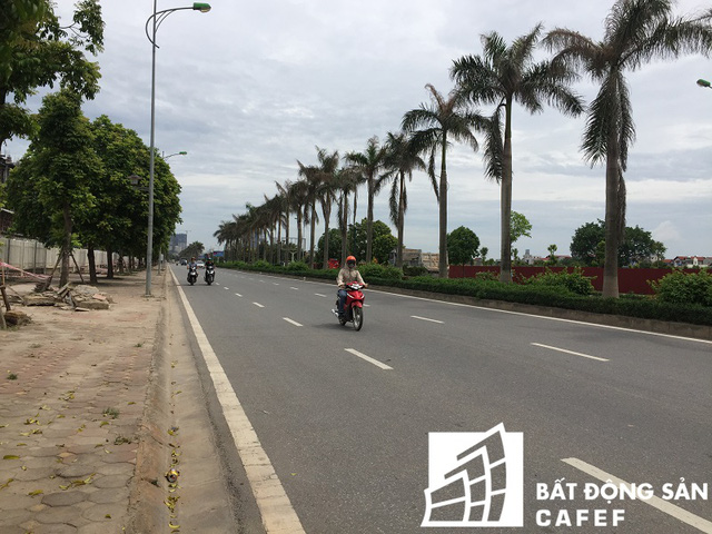 Đường Lê Trọng Tấn phía trước mặt dự án .