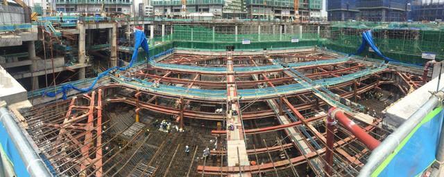 Mặt bằng công trường thi công dự án The Landmark 81.