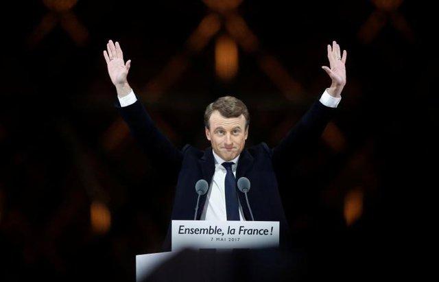 Tổng thống đắc cử Emmanuel Macron.