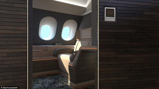 Ý tưởng thiết kế này giúp cho hành khách sang trọng có không gian riêng tư, cho phép họ cảm thấy như ở khách sạn chứ không phải máy bay.