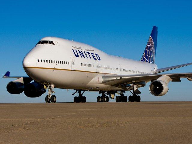 Máy bay của hãng hàng không United Airlines.