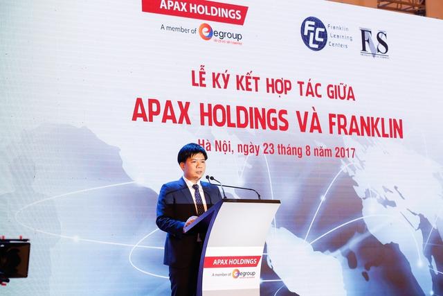 Ông Nguyễn Ngọc Thuỷ - Chủ tịch HĐQT Tập đoàn Egroup phát biểu tại buổi lễ ký kết.