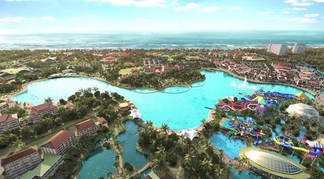 Phối cảnh dự án khu nghỉ dưỡng phức hợp của Suncity và Chow Tai Fook tại Hội An. Ảnh: Sun City