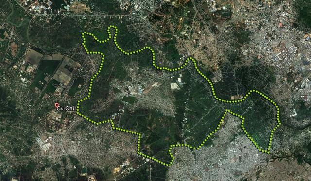 Vùng đất chúa đảo Tuần Châu dự kiến xây dựng thành phố nằm ở phía Đông huyện Củ Chi.