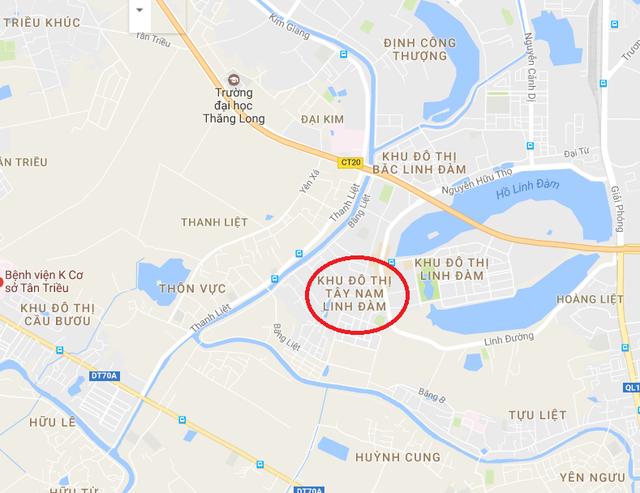 Hud2 Twin Towers tọa lạc ngay gần hồ Linh Đàm.