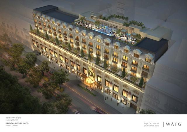 Phối cảnh khách sạn 6 sao đầu tiên tại Hà Nội.