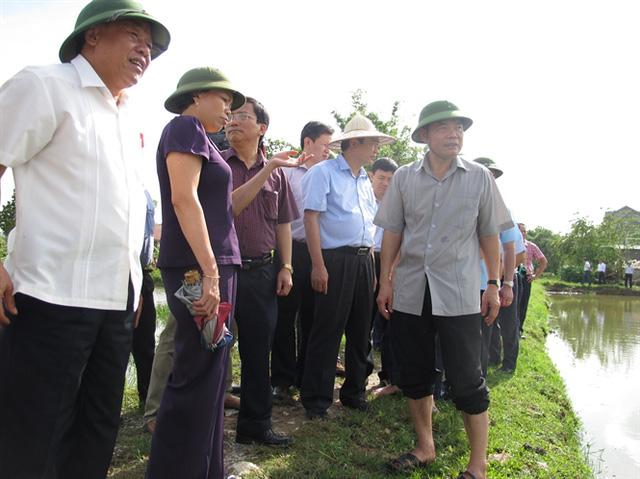 """Vừa nhậm chức """"tư lệnh"""" ngành NN&PTNT, Bộ trưởng Nguyễn Xuân Cường đã xuống tận địa bàn vùng lũ bàn tháo gỡ khó khăn."""