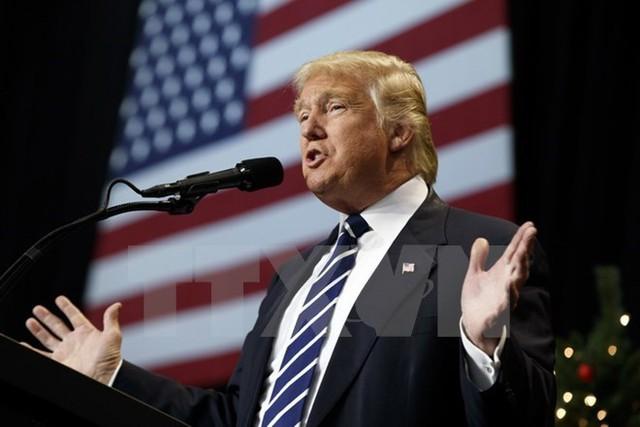 Tổng thống đắc cử Mỹ Donald Trump tại một sự kiện ở Hershey, bang Pennsylvania. Nguồn: AP/TTXVN