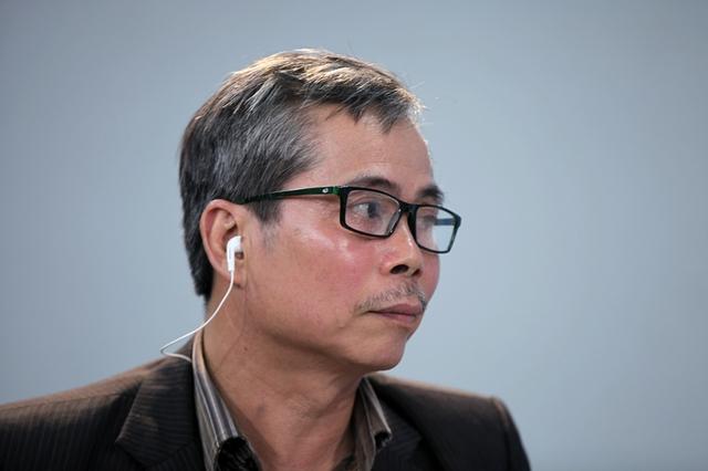 Kiến trúc sư Trần Huy Ánh, Hội Kiến trúc sư Hà Nội tại chuyên mục Góc nhìn thẳng (ảnh: Lê Anh Dũng)