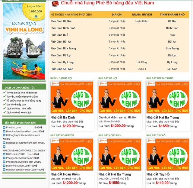 Tên miền Phodinh.com được rao bán giá 10.000 USD