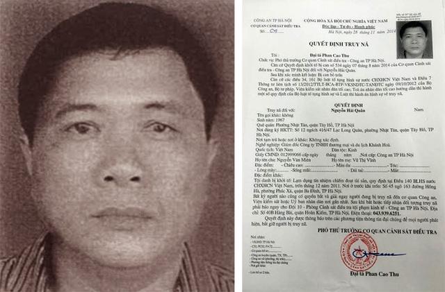 Đối tượng Nguyễn Hải Quân và quyết định truy nã.