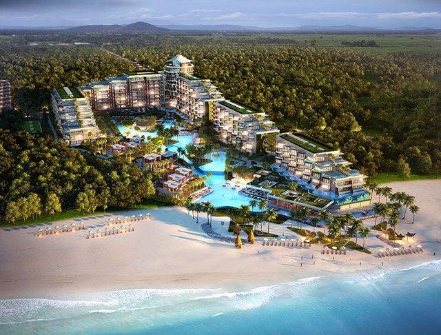 Phối cảnh tổng thể Premier Residences Phu Quoc Emerald Bay (Premier Condotel).