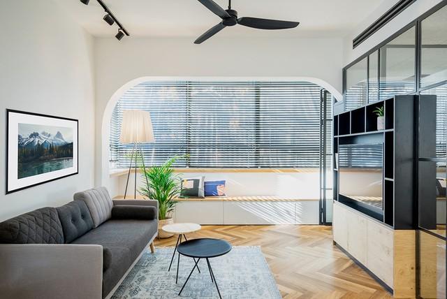 Phóng to Căn hộ có diện tích 53 m2 với ưu điểm lớn là cửa sổ trải dài lấy sáng.