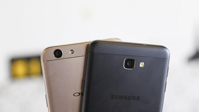 Oppo F1s và Samsung Galaxy J7 Prime