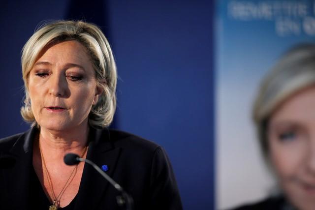 Ứng viên tổng thống Pháp Marine Le Pen. Ảnh: Reuters.