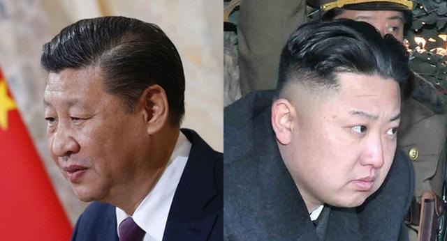 Lãnh đạo Triều Tiên Kim Jong-un (phải) và Chủ tịch Trung Quốc Tập Cận Bình. Ảnh: THE KOREA TIMES