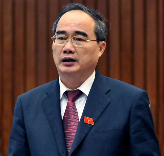 Tân Bí thư Thành ủy TP.HCM Nguyễn Thiện Nhân. Ảnh: Hoàng Hà.
