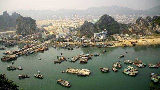 Một góc huyện Vân Đồn - Quảng Ninh.