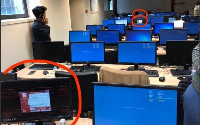 Những chiếc máy tính bị nhiễm malware WannaCry.