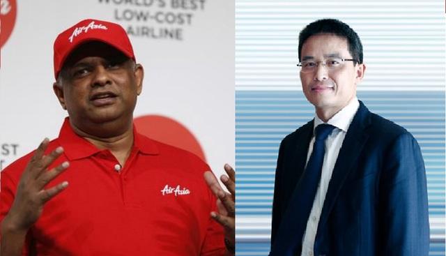 CEO AirAsia Tony Fernandes (trái) CEO TMG Trần Trọng Kiên (phải)