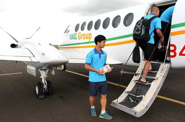 Chiếc King Air350 của bầu Đức, một trong những máy bay cá nhân đầu tiên ở Việt Nam Ảnh: HỮU DŨNG