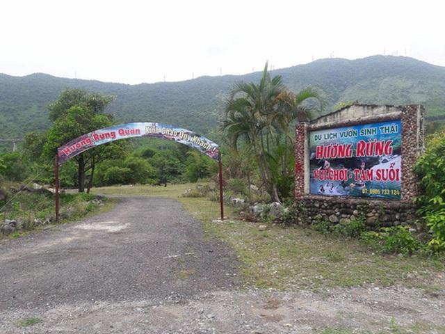 Khu lịch sinh thái Hương Rừng được cho là xây dựng trái phép tại khu vực suối Lương