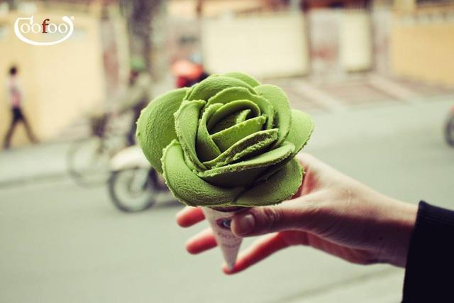 Kem hoa hồng của Goofoo Gelato