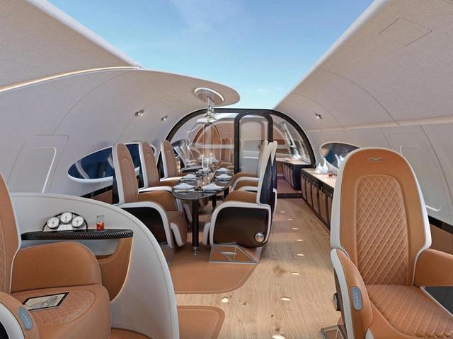 Thiết kế trần mở trong ACJ319neo.