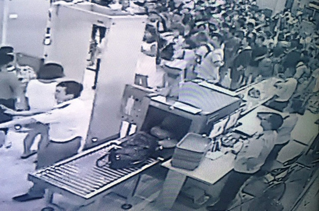 Các khâu thủ tục đều có camera an ninh ở sân bay Cam Ranh theo dõi