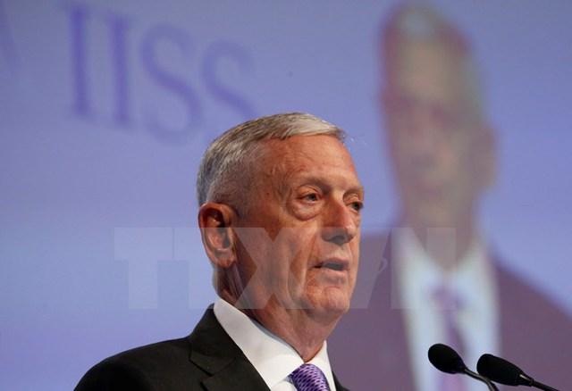 Bộ trưởng Quốc phòng Mỹ James Mattis. (Nguồn: EPA/TTXVN)