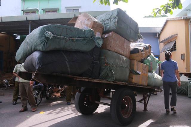 Lô hàng lớn không có giấy tờ chứng minh nguồn gốc bị công an tạm giữ tại ga Đà Nẵng