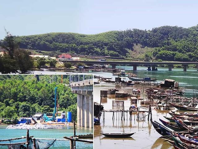 Con đường công vụ để làm hầm Hải Vân bị người dân phản đối vì ảnh hưởng đến cuộc sống của họ và làm xấu đi eo vịnh Lăng Cô thơ mộng. Ảnh: ND