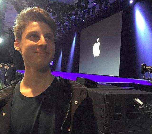 Ben Pasternak tại hội nghị WWDC của Apple, chàng trai ít tuổi này từng nổi như cồn với một ứng dụng do chính anh ta phát triển nên.