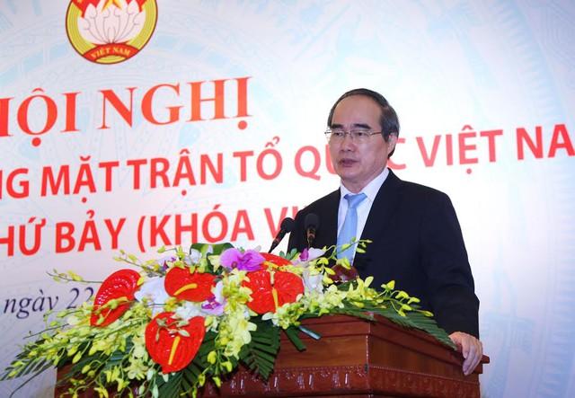 Nguyên Chủ tịch MTTQ VN Nguyễn Thiện Nhân. Ảnh: Thành Trung