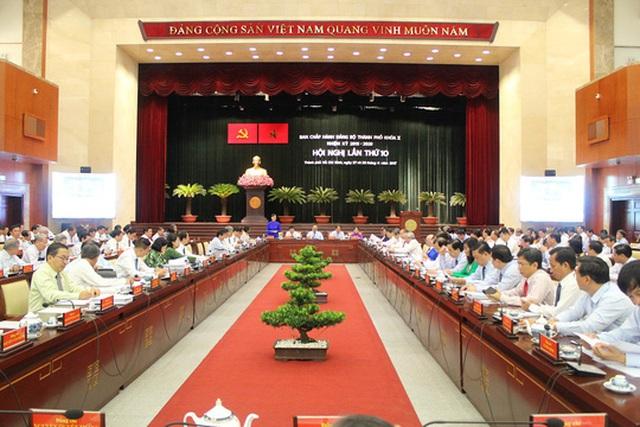 Toàn cảnh phiên khai mạc Hội nghị lần thứ 10 Ban Chấp hành Đảng bộ TP HCM khóa X