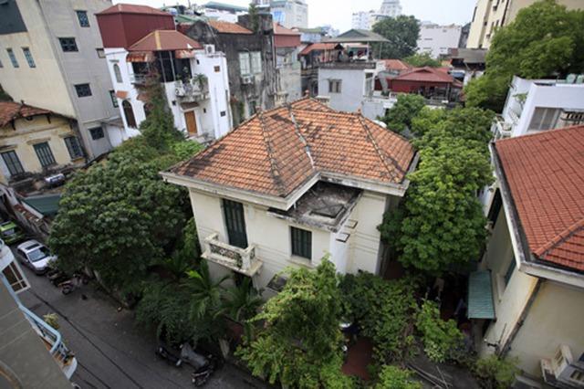 Biệt thự 12 Nguyễn Chế Nghĩa nhìn từ trên cao. Ảnh: Phạm Hải