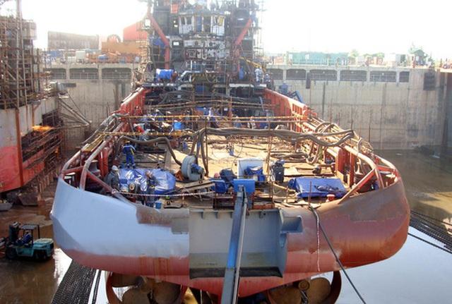 Nếu Công ty Công nghiệp tàu thủy Dung Quất phá sản, cuộc sống của gần 1.000 lao động nơi đây sẽ lâm cảnh khó khăn