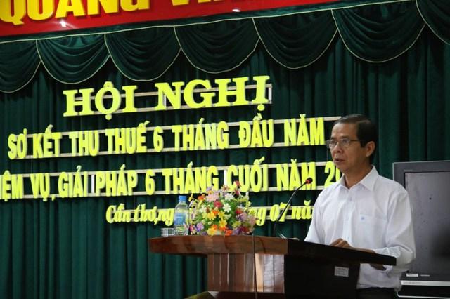 Ông Nguyễn Thanh Dũng, Phó Chủ tịch UBND TP Cần Thơ, phát biểu tại hội nghị. Ảnh: HẢI DƯƠNG