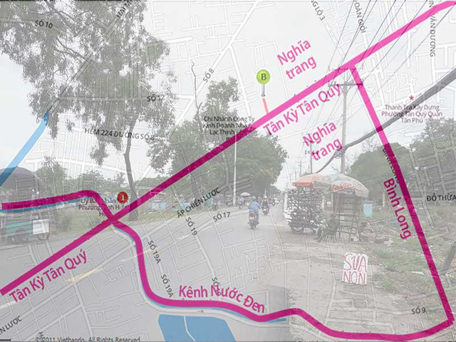 Giá đất một vài tuyến các con phố xung quanh Bình Hưng Hòa đang tăng mạnh. Ảnh: T.LINH. Đồ họa: K.DUNG