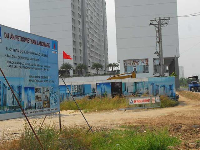 """Dự án PetroVietnam Landmark tọa lạc tại quận 2 là một trong những dự án """"trùm mền"""" trong nhiều năm. Ảnh: HTD"""